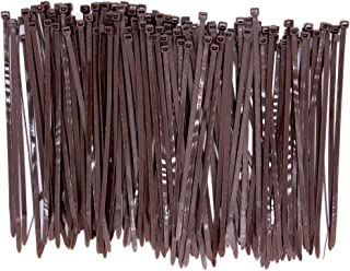Upgrade 150 Pieces Wide Strong 8 Inch Dark Brown Cable Zip Ties, Heavy Duty 50 LBS Handheld Typical Zip Ties for Fence Fas...