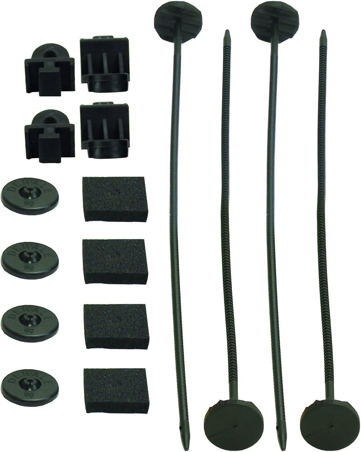 Derale 16744 Plastic Rod Mounting mart Kit Free shipping New Black