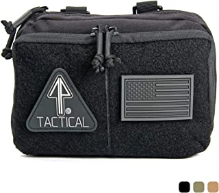 14er Tactical MOLLE Admin Pouch | 1000D Material & YKK Self-Healing Zippers | Flag Patch Panel & MOLLE Compatible PALS | CAT TQ Straps, EDC, Utility, Hiking, IFAK, Tool Pack