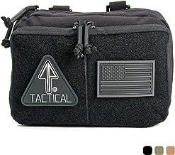 14er Tactical MOLLE Admin Pouch   1000D Material y cremalleras YKK autorreparables   Panel de parche de bandera y PALS compatibles con MOLLE   correas CAT TQ, EDC, utilidad, senderismo, IFAK, paquete de herramientas