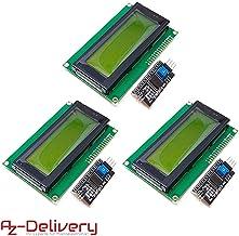 AZDelivery 3 x Modulo Pantalla LCD Display Verde HD44780 2004 con Interfaz I2C 20x4 caracteres compatible con Arduino con E-Book incluido!