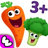 Funny Food 2 - Educational Games for Kids Toddlers in Learning Apps 4 Babies & Preschoolers! Kindergarten Game for Girls Boys 3 5 Years Old: Children Learn Smart Baby Shapes and Colors! Puzzle matching free develop fine motor skills, attention, logic