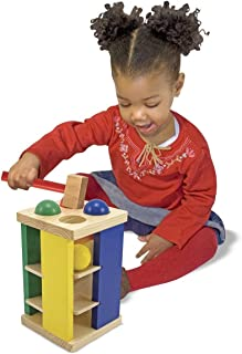 Melissa & Doug Pound and Roll Tower Classic Toy & 1 Scratch Art Mini-Pad Bundle (03559)