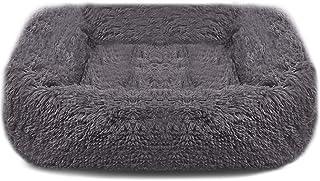 BEIKOTT Dog Bed, Original Shag Fur Cat Dog Bed, Ergonomic Calming Plush Pet Bed, Anti-Slip Kennel for Teddy Alaska Kitten ...