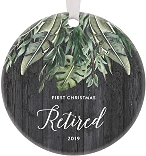 Retirement Party Gift Ideas 2019 Christmas Ornament Keepsake Decorations Retired Women Men Mom Dad Grandma Grandpa Coworker Unique Fun Personalized Best Day Male Female Worker Done Rustic Ceramics 3