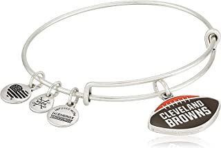 Women's Color Infusion Cleveland Browns Football II EWB Bracelet, Rafaelian Silver