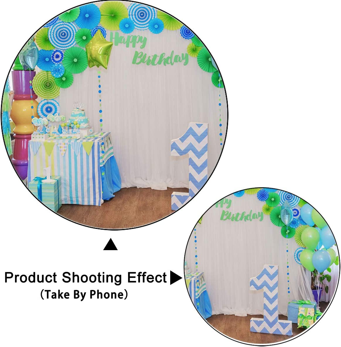 Levoo Flannel Balloon Background Banner Photography Studio Children Baby Boy Girl Birthday Family Party Holiday Celebration Romantic Wedding Photography Backdrop Home Decoration 6x6ft,chy367