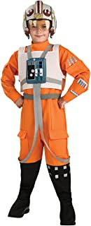 Rubies Star Wars Classic Child`s Deluxe X-Wing Pilot Costume, Small
