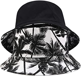 Snowlike Women's Visor Printed Canvas Hat Outdoor Fisherman Hat Solid Color Fashion Casual Cap Sun Hat