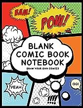 Blank Comic Book Notebook: Pow