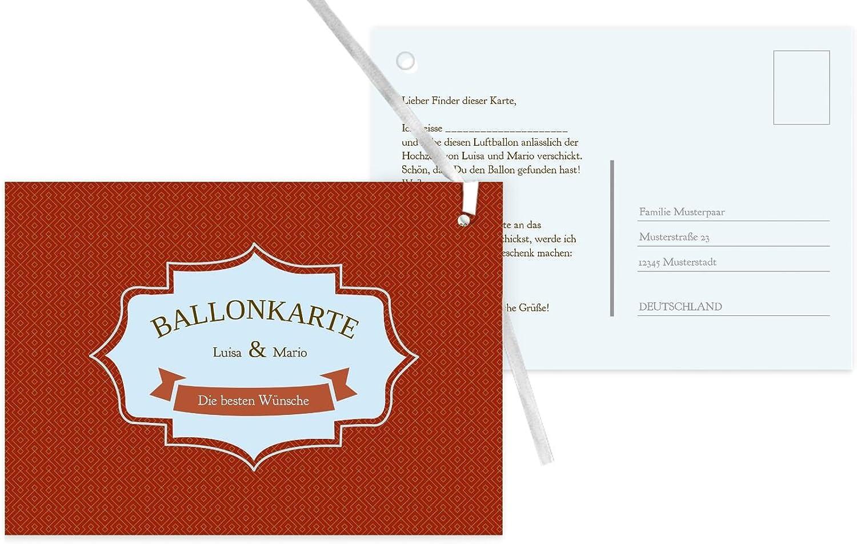 Ballonkarte Harmonie, 80 Karten, dunkelOrange B07CQG1KTQ | Ausgezeichnete Qualität