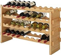 HOMECHO 36 Bottle Stackable Wine Rack - (33.5