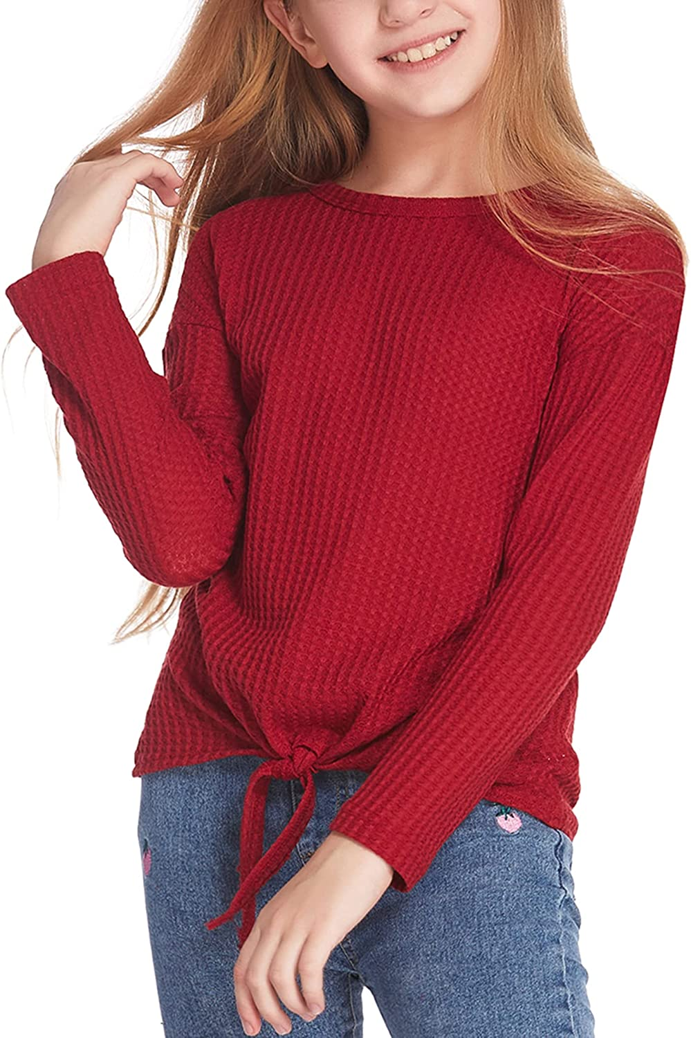 Arshiner Girls Knit Tunic Colorblock Tops OFFicial store Pull Long NEW before selling Sleeve Loose