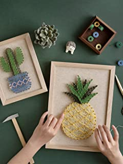 RM Studio DIY Pineapple String Art Kit with All Necessary Accessories and Frame for Kids Students, Adult Crafts Kit, Home Wall Decorations Unique Gift