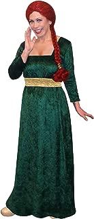 Sanctuarie Designs Women's Princess Fiona Shrek Plus Size Supersize Halloween Costume Dress