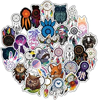 Water Bottle Stickers Dream Catcher 57 Pcs Laptop Stickers Pack Decals for Water Bottle Laptops Ipad Cars Luggages