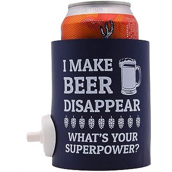 I Make Beer Disappear Shotgun Can Coolie (1)