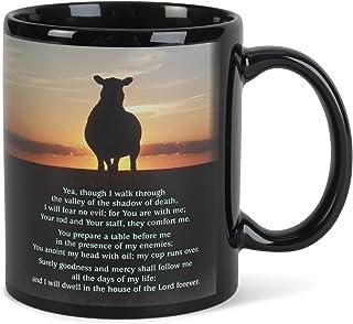 Shepherd Scripture Black 11 ounce Ceramic Novelty Café Coffee Tea Cup Mug