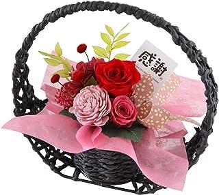 花由 和風 プリザーブドフラワー 花宵月 レッド 感謝