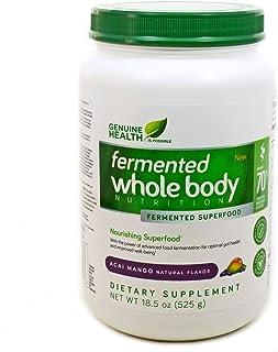Genuine Health Fermented Whole Body Nutrition, Acai Mango Flavor, 18.5 oz (525 g)