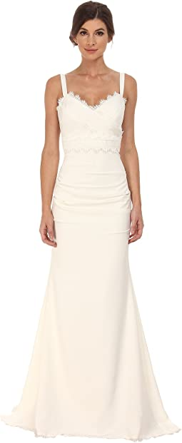 Nicole Miller - Tonya Stretch V-Neck Gown