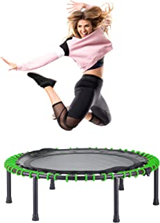 CASTOOL 40'' Ultra Quiet Fitness Mini Trampoline Without Adjustable Handle,Safe Elastic Band – Indoor Fitness/Home Workout Cardio Training for Adults