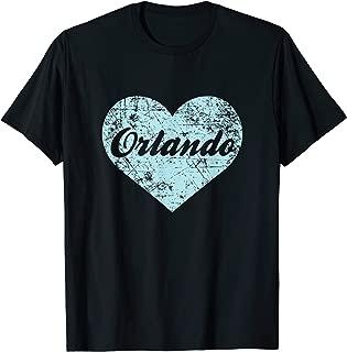 Love Orlando Shirt Heart Florida Souvenir State Gift