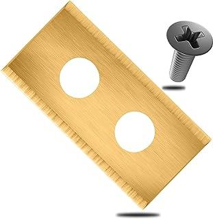 ECENCE Hojas de Repuesto Tipo Cuchillas de Acero Inoxidable para Robot cortacésped - 18 Piezas - para Worx Landroid - Incl...