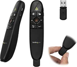 StarTech.com Wireless Presentation Remote with Red Laser Pointer - 90 ft. - PowerPoint Presentation Clicker for Mac & Wind...
