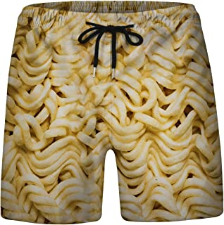 Whyeasy Men's Printed Swim Trunks Quick Dry Beach Board Shorts Drawstring Lightweight with Elastic Waist and Pockets
