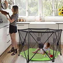Bammax Baby Playpen Portable Kids Safety Playard Indoor and Outdoor Play Space for 6 to 24 Months Infants Babies and Toddler Washable Adjustable and Easy Assembly