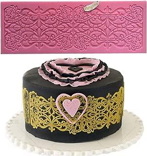 Anyana fleur de lis edible Lace mat Cupcake Toppers Fondant Sugar Craft Tools Gumpaste Chocolate Moulds