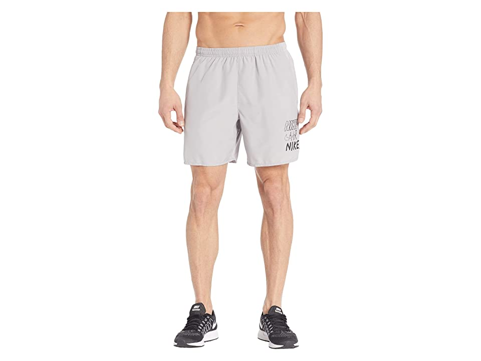 Nike Challenger Shorts 7 BF Graphics (Atmosphere Grey/Black) Men