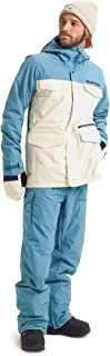 Burton Mens Covert Jacket, Almond Milk/Storm Blue Ripstop, X-Small