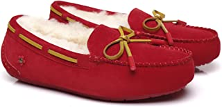 Ever UGG Australian Wool UGG Moccasins Women with Special Flower Fragrance Miracle Moccasin Shoes