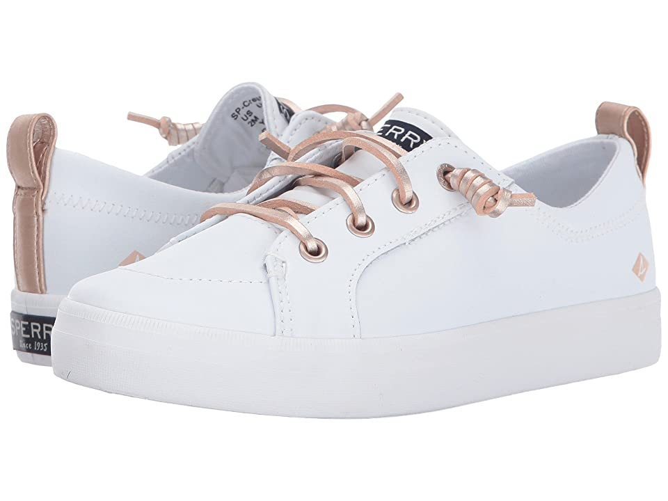 Sperry Kids Crest Vibe (Little Kid/Big Kid) (White Leather) Girls Shoes