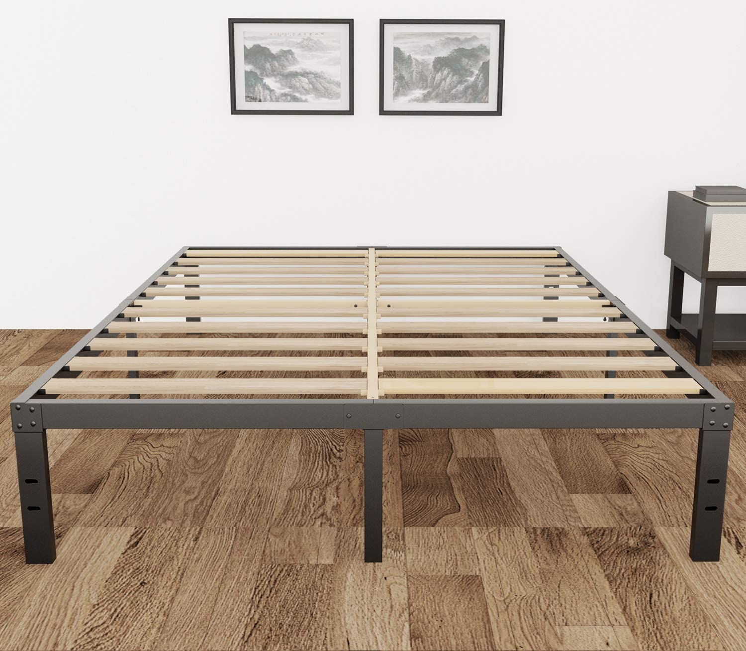 3800lbs Heavy Duty Max 48% Cheap super special price OFF 14 Inch Steel Reinforce Slat Support Wooden