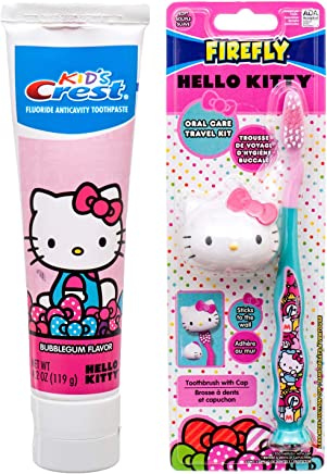 15a4d269b Hello Kitty Toothbrush with Suction Cap and Hello Kitty Crest Toothpaste  4.2 oz Kids Dental Set