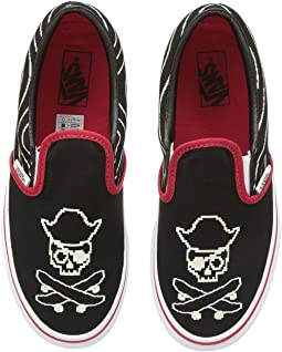 a739475c4fdbfe (Pixel Pirate) Black Racing Red True White. 129. Vans Kids. Classic Slip-On  (Little Kid Big Kid).  32.99MSRP   37.00