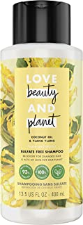 Love Beauty And Planet Hope and Hair Repair Sulfate-Free Shampoo for Split Ends and Damaged Hair Coconut Oil & Ylang Ylang...