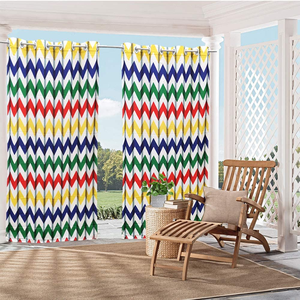 HGMart Color Wave Pattern Print Porch Outdoor Panel for Curtain Clearance SALE! Limited time! excellence