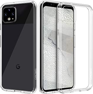 TiMOVO Cover Designed for Google Pixel 4 XL Case, Slim Hybrid Transparent PC Hard Panel TPU Bumper Shockproof Anti-Scratch Anti-Yellow Case for Google Pixel 4XL 6.3 inch 2019 - Clear