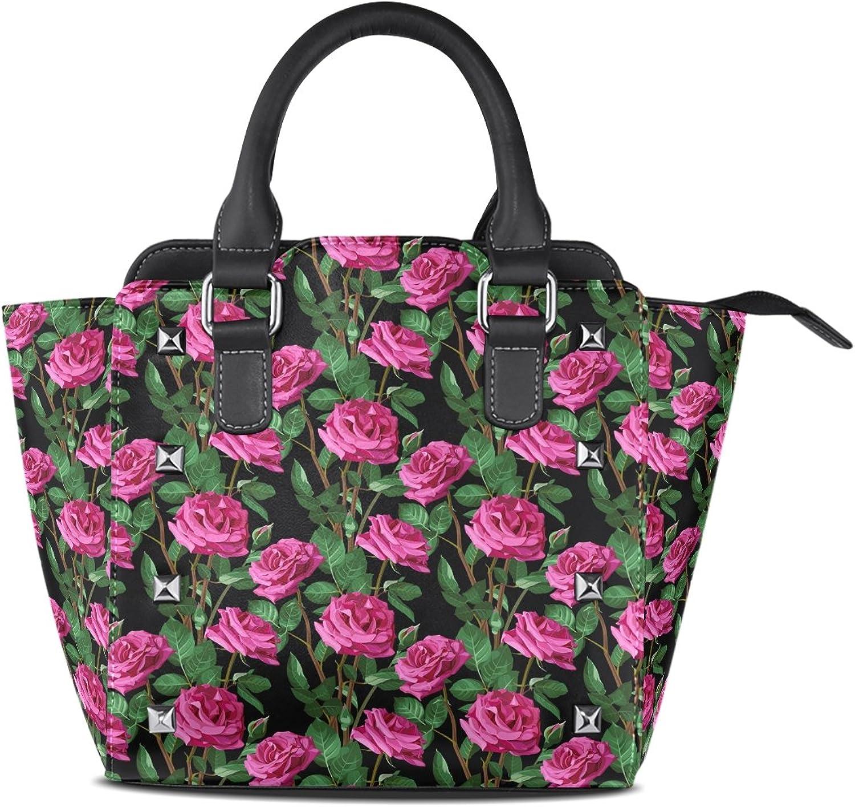 My Little Nest Women's Top Handle Satchel Handbag Beautiful pinks Ladies PU Leather Shoulder Bag Crossbody Bag