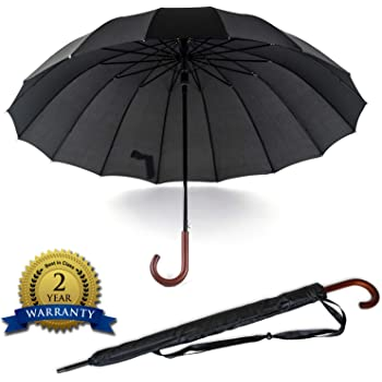 Durable and Strong style 54 Inches Auto Open big Umbrella Long Umbrella 16 Ribs