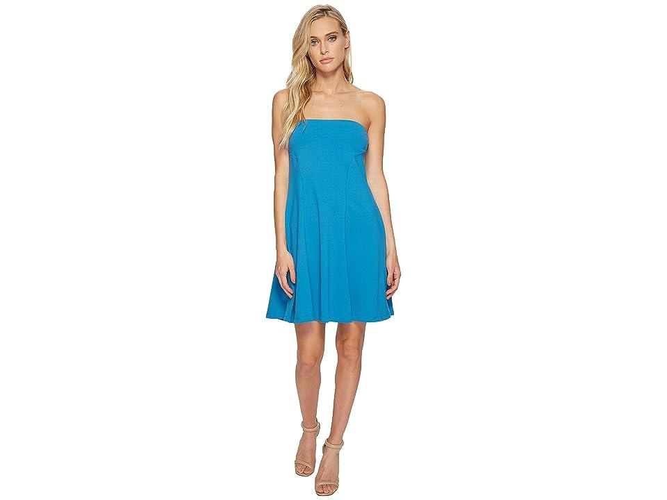 Susana Monaco Danielle Strapless Flare Dress (Azuline) Women