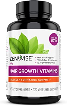 Hair Growth Vitamins Supplement by Zenwise Labs