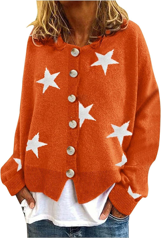YfiDSJFGJ Open Front Cardigan for Women Long Sleeve Sweater Retro Print Loose Casual Womens Cardigans