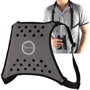 Eyeskey Binoculars Harness Light-Weight Breathable Comfortable Binocular Strap Harness -Easy to Attach and Detach Binoculars, Cameras and Rangefinders, 4oz