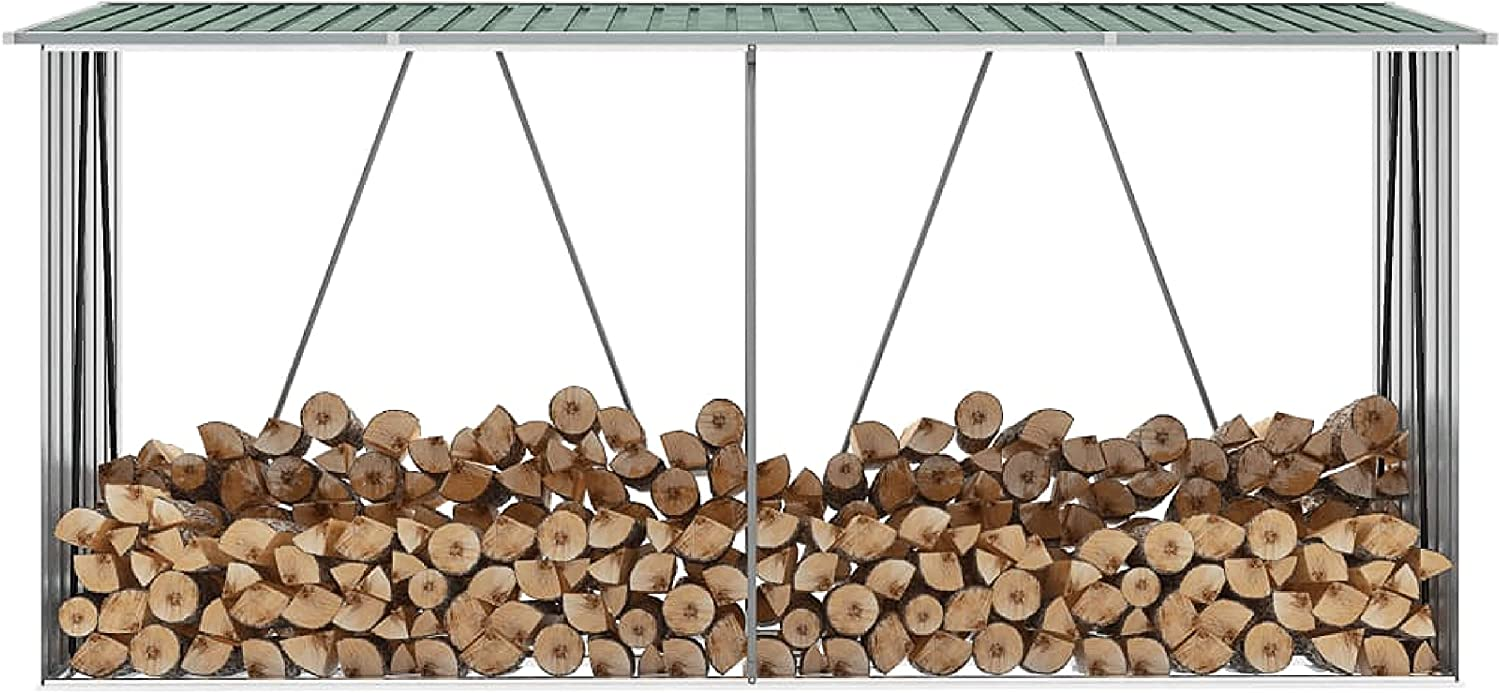 Log Rack Carrier Accessory Garden Shed Fresno Mall Galvanized Limited Special Price Storage