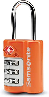 Samsonite Travel Sentry 3-dial Combination Lock, Orange Tiger, One Size